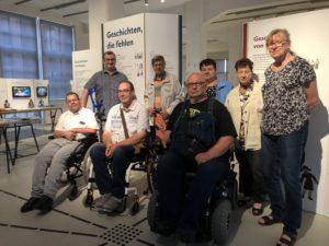 """Am 20. Juli erfolgte im Rahmen eine Vorstandssitzung der Besuch der sehenswerten Ausstellung """"Geschichten, die fehlten"""" in Halle"""